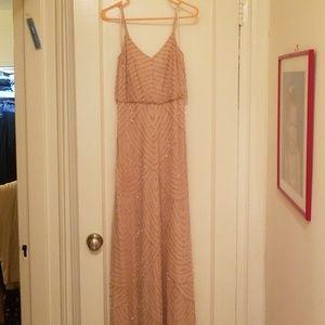 Adrianna Papell beaded bridesmaid dress